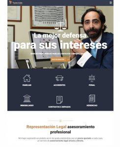 Diseño de página web para abogado