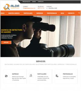 Diseño de página web para Alsa Detectives