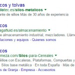 Anuncios en color verde Google AdWords
