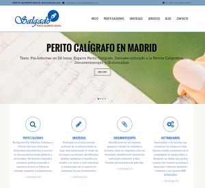 Diseño de páginas web para perito caligrafo