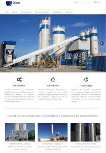 Diseño de página web para empresa de silos