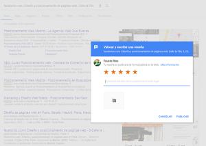 Como crear enlace para escribir una reseña de Google