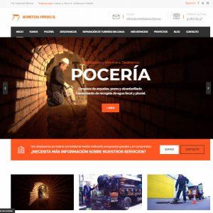 Diseño de página web para empresa de pocería. Desatrancos y desatascos