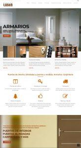Diseño de página web para Puertas Lusan