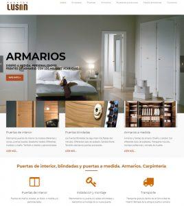 Diseño de páginas web para empresa de puertas