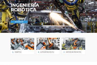 Diseño de página web para empresa de robótica