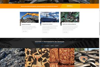 Diseño de página web para empresa de gestión de metales, chatarrería