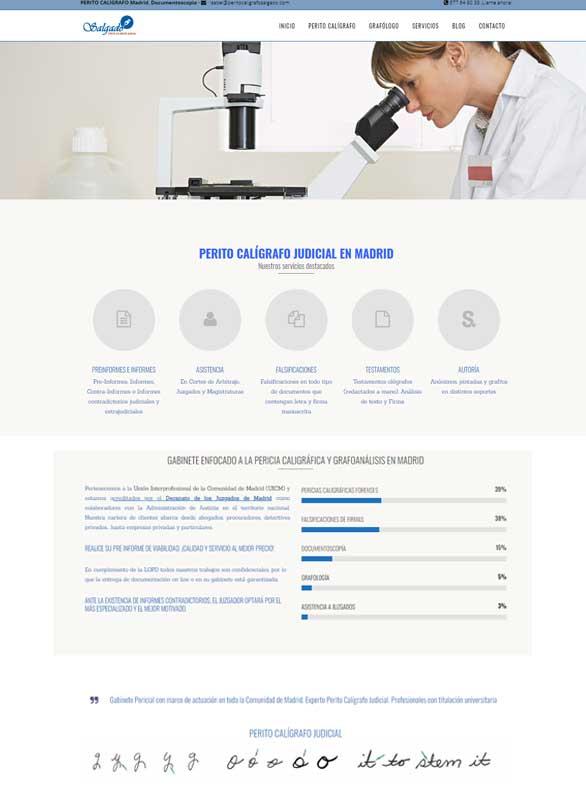 Diseño de página web para perito calígrafo