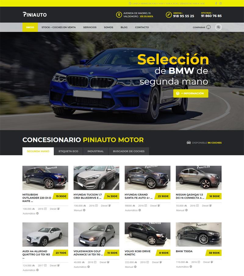 Diseño de página web para concesionario de coches