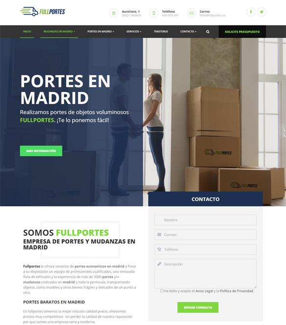 Posicionamiento de página web para empresa de portes y mudanzas 3