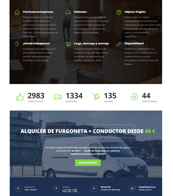 Posicionamiento de página web para empresa de portes y mudanzas 2