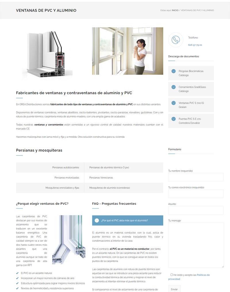 Diseño de página web para instalador de ventanas y pérgolas bioclimáticas