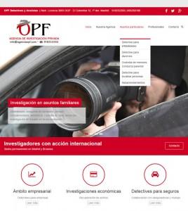 Diseño web para Agencia OPF detectives