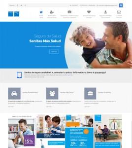 Diseño web para agencia de Sanitas