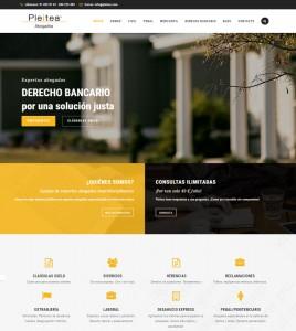 Diseño de pagina web para abogados