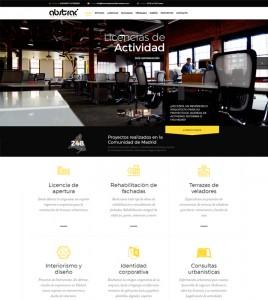 Diseño de pagina web para arquitectos e ingenieros Estudio Abstrac