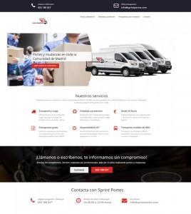 Diseño de pagina web para mudanzas Sprintportes