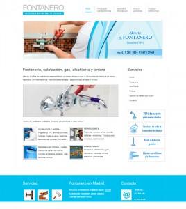 Diseño de pagina web para fontanero