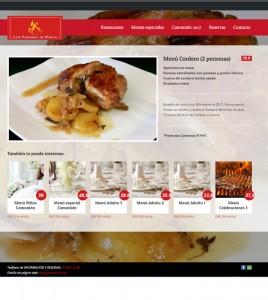 Diseño de pagina web para restaurante Los Fogones de Parla
