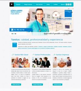 Diseño de pagina web para agencia  de Sanitas