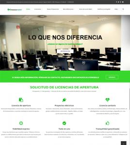 Diseño de página web para Ingeniería